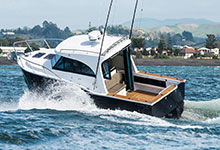 08 - Dek-King In Traditional Teak With Black Caulking Fitted To A Custom 950 - Image Courtesy Of Dickey Boats
