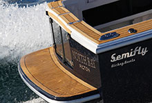 09 - Dek-King In Traditional Teak With Black Caulking - Image Courtesy Of Dickey Boats