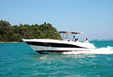 21 - 25mm Stainless Steel PVC 1881R Silvercraft 36 CC - Image Courtesy Of Gulf Craft Inc