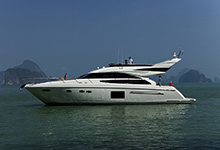 42 - 25mm Stainless Steel PVC 2480R - Image Courtesy Of Princess Yachts International Plc
