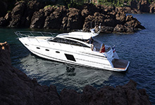 43 - 25mm Stainless Steel PVC 2480R - Image Courtesy Of Princess Yachts International Plc