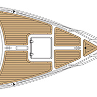 Boat deck design - the flexibility of synthetic teak