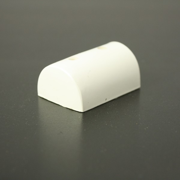 PVC 180/EC white GRP end cap