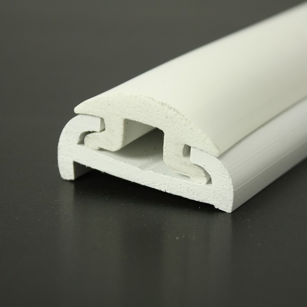 PVC 1613R boat rub rail shown fitted with PVC 1614 insert