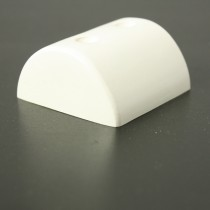 PVC 370 white GRP end cap