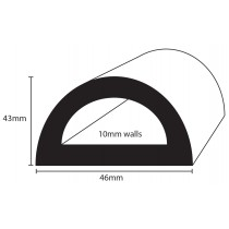 PVC 898 - 100 recycled flexible marine D fendering for boats
