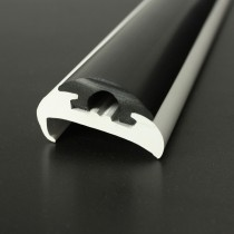 PVC 1417R boat rub rail shown fitted with PVC 1418 insert