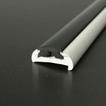 PVC 1472R boat rub rail shown fitted with PVC 1022 insert