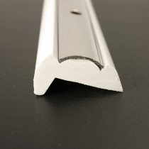 PVC 1881R boat rub rail designed to carry a 25mm stainless steel insert