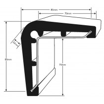 PVC 2091 Corner Guard Profile