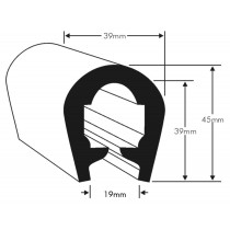 PVC 7T - flexible U fender for boats