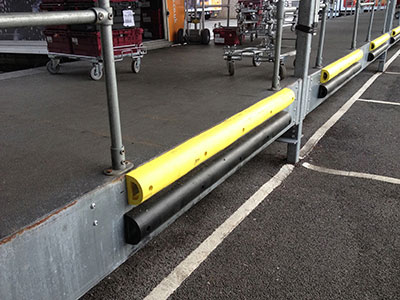 Wall protection bumpers installed at Sainsbury's - PVC 2448