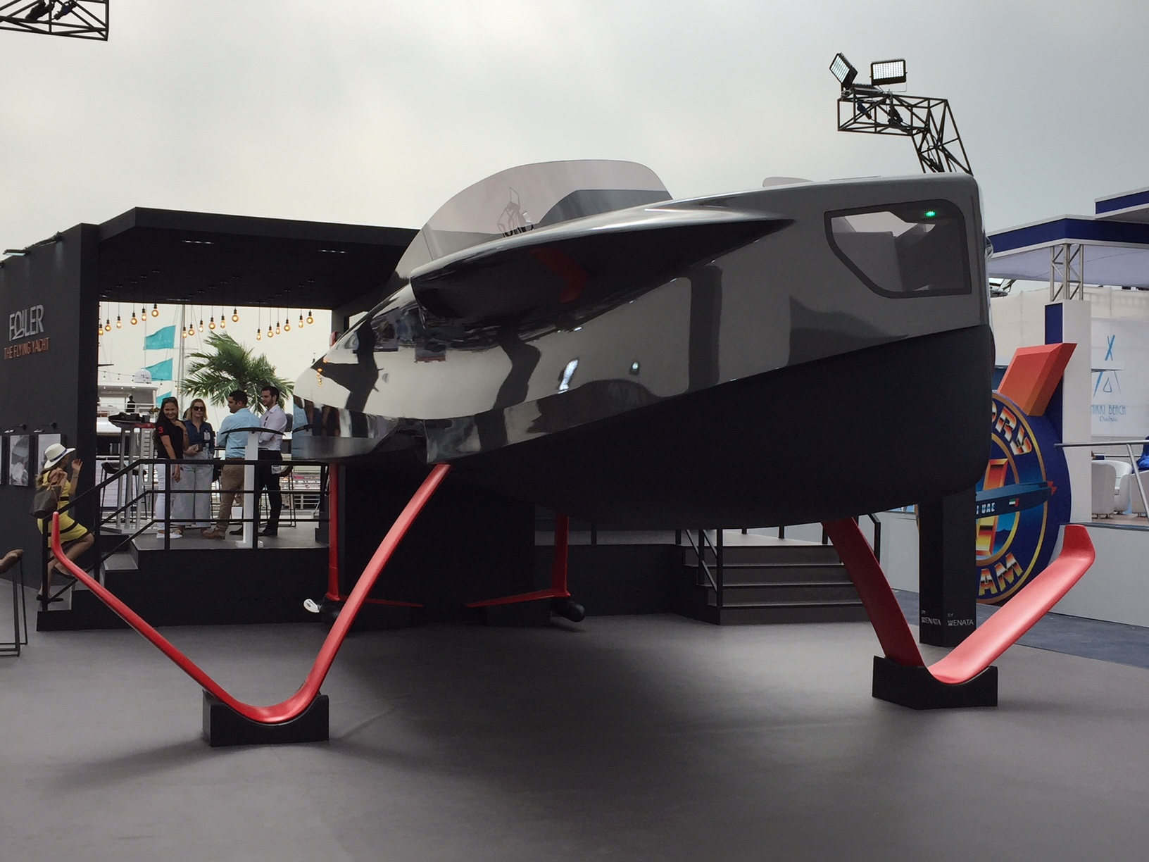 The Foiler at the Dubai International Boat Show 2018