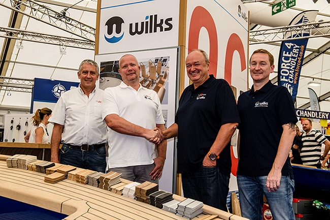 Rob Tilney and Tomas Gustafsson from Flexiteek International AB with Chris Berry and Scott Berry from Wilks.